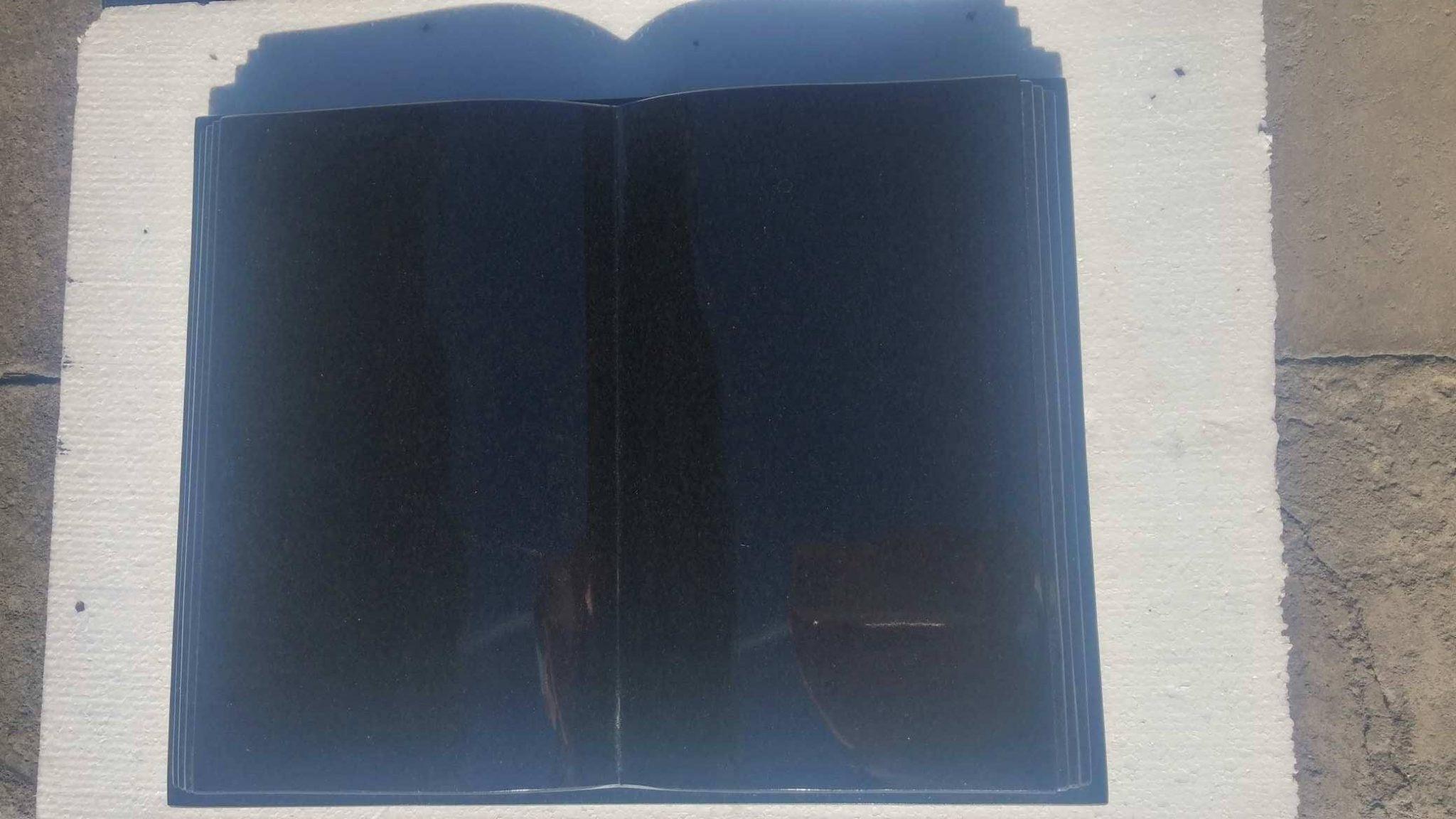 Książka granitowa czarna