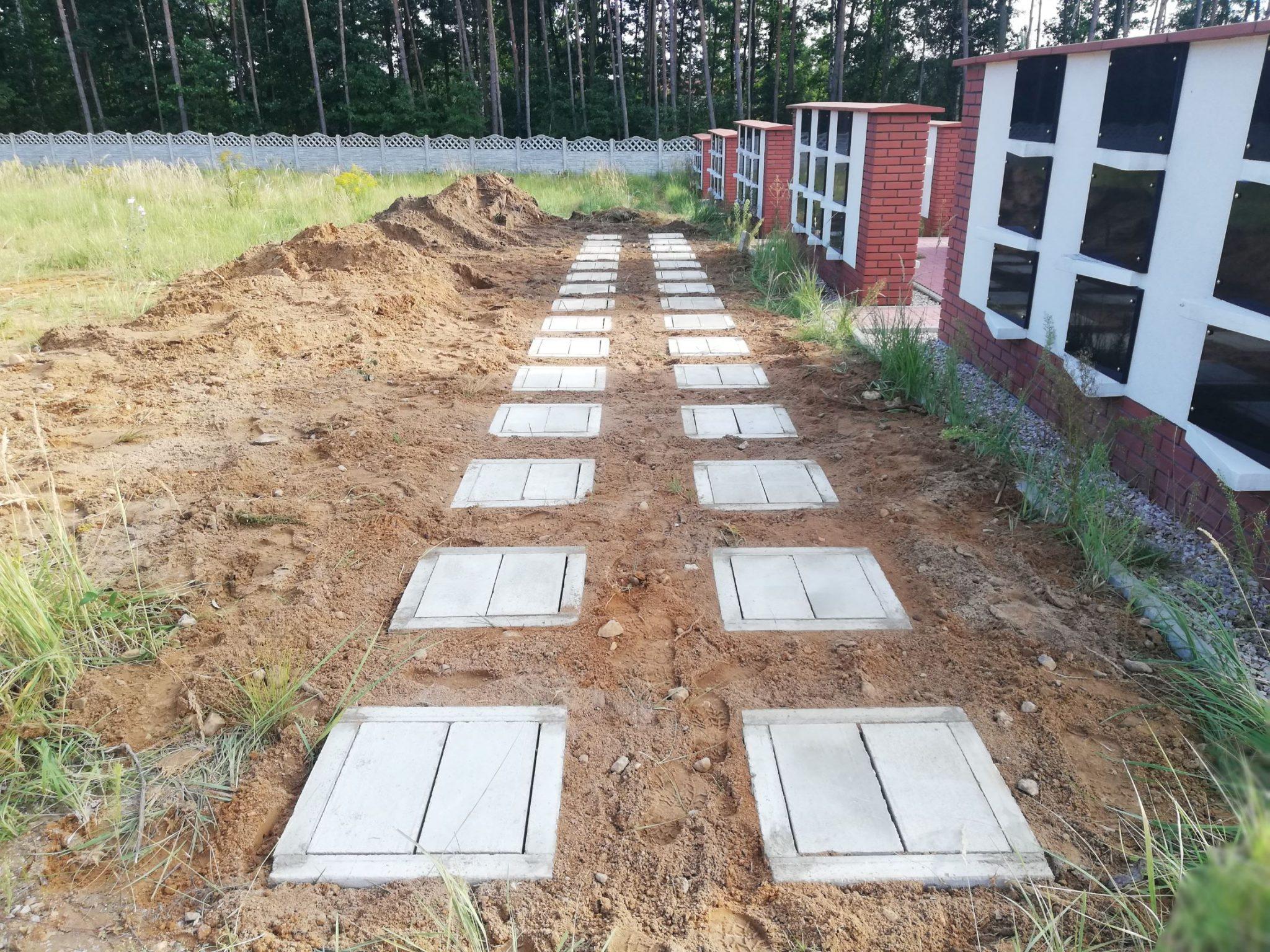 Betonowe krypty grobowe urnowe nisze urny urna grobowce