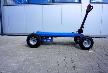 Wózek z napędem do ciężkich płyt granitowych i nie tylko