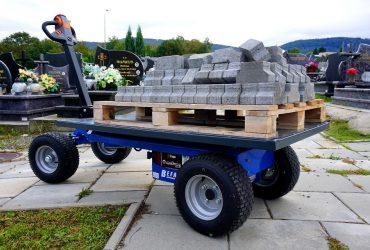 Wózek elektryczny-przewóz nagrobków, kamienia itp