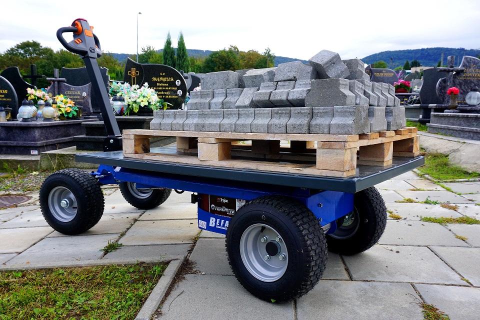 Transporter elektryczny-przewóz nagrobków, kamienia itp