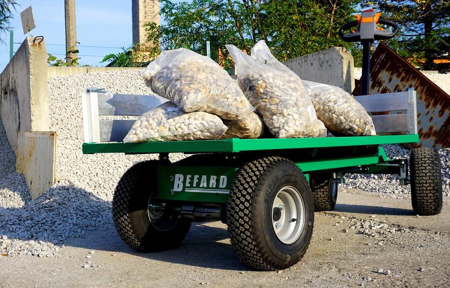 Transporter elektryczny dla branży kamieniarskiej